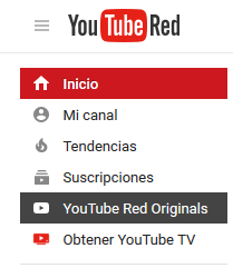 Acceso a YouTube Red Originals